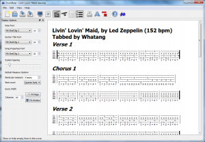 DrumBurp without empty tab lines