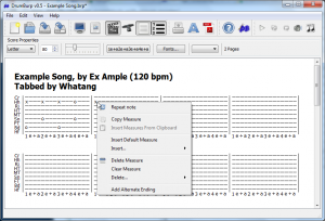 Repeating Notes example: Popup Menu
