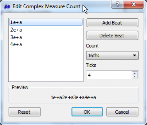 The complex count editor.