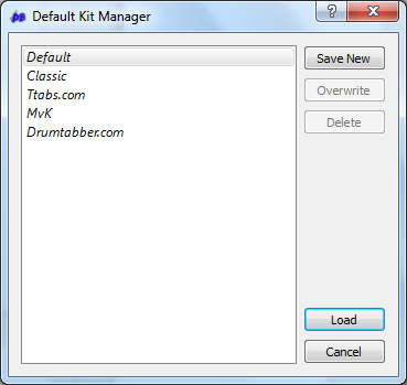 Default Kit Manager